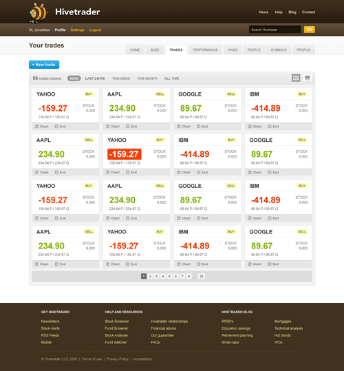 Hivetrader screen 1