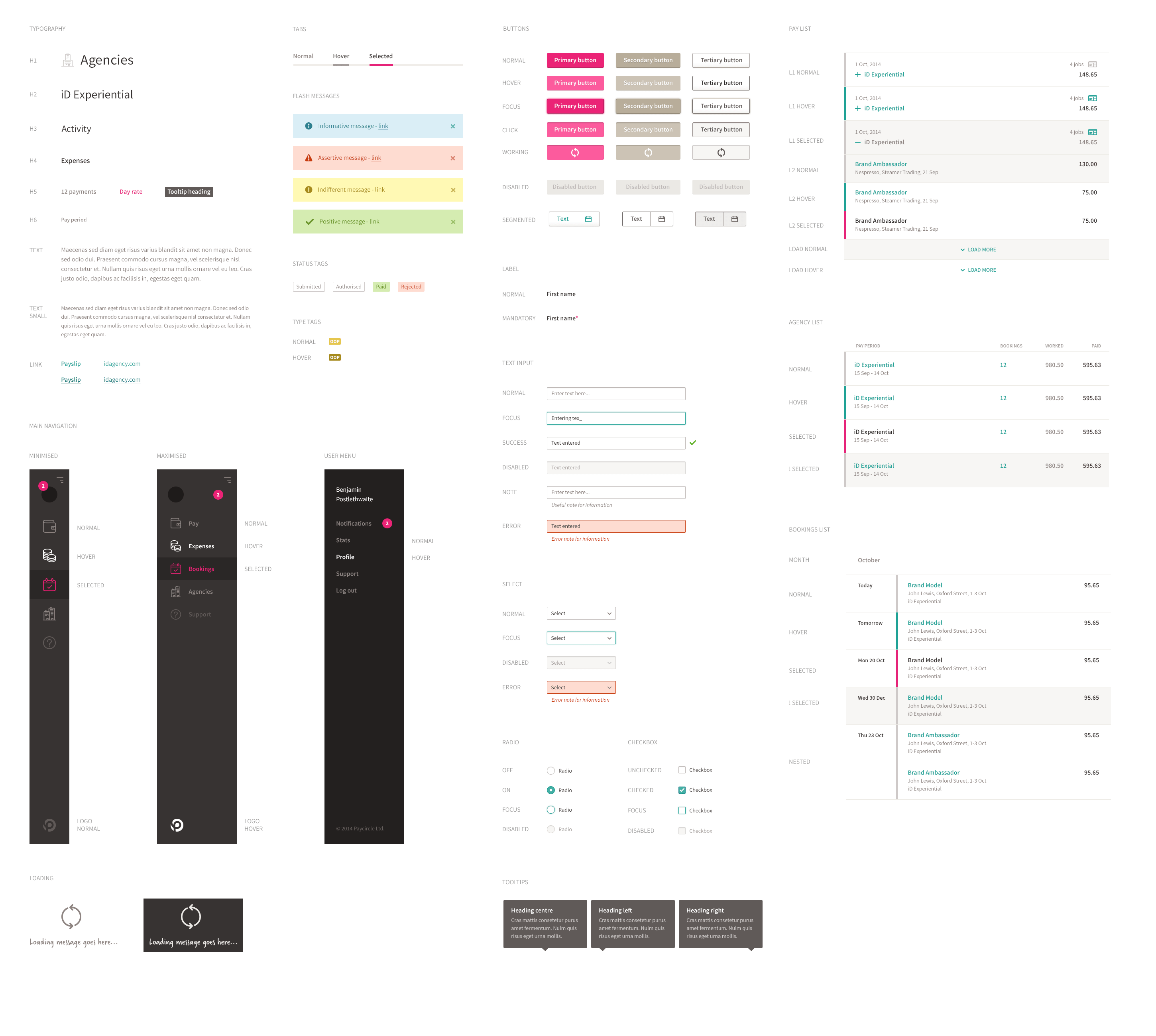 Tax Tracker style guide