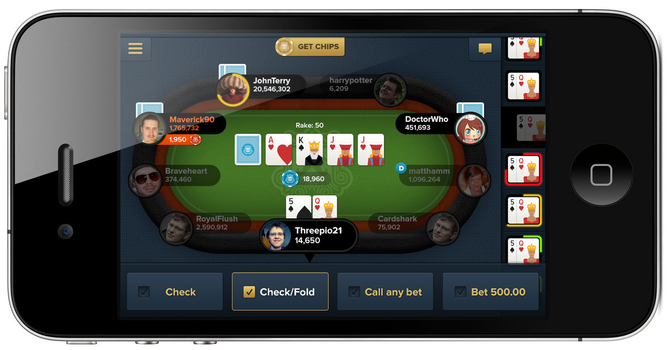 ReplayPoker Table UI