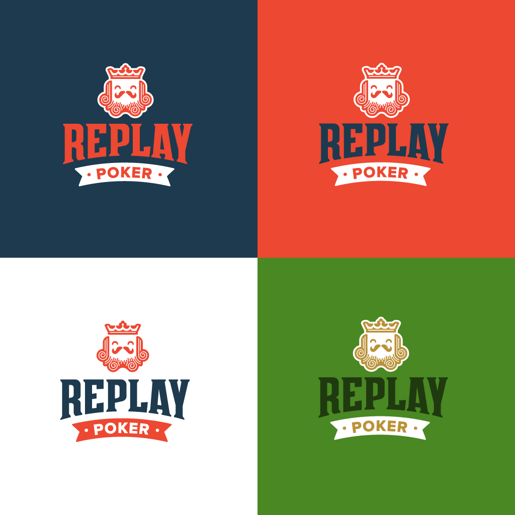 ReplayPoker logo set