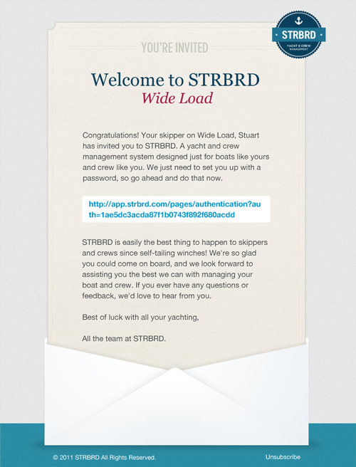 STRBRD screen 2
