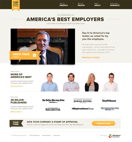 Top Workplaces screen 1
